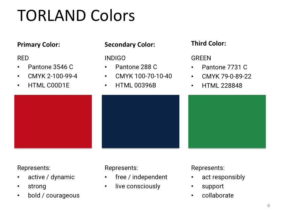 TORLAND Colors